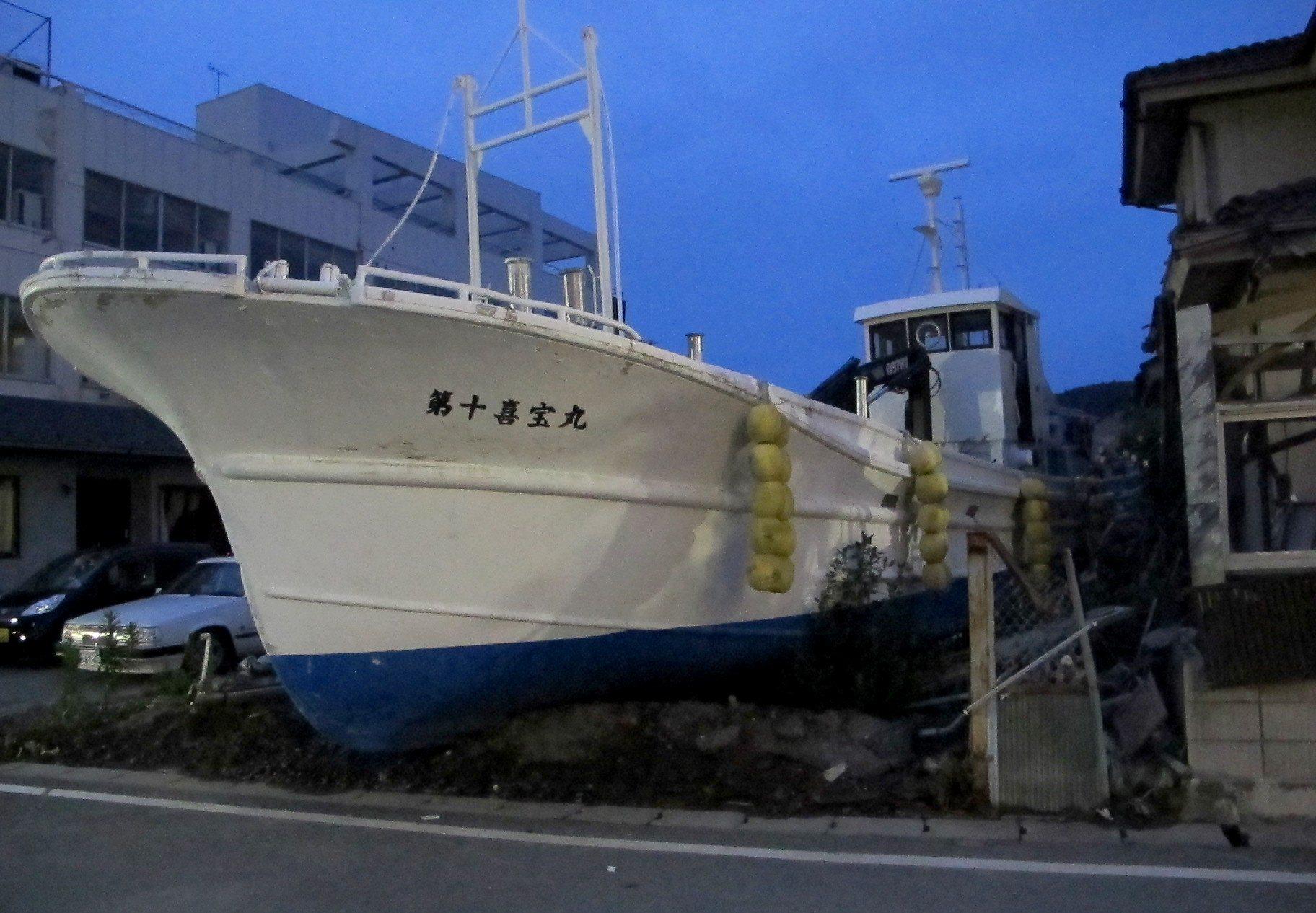 boat, Japan, Ishinomaki, street, earthquake, tsunami, 3.11, 2011, March 11, debris, Tohoku