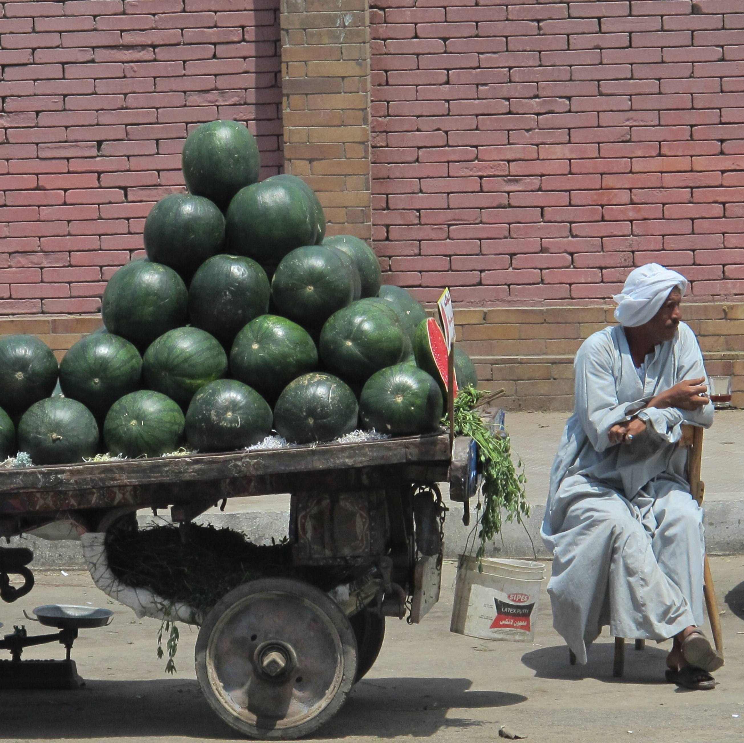 Watermelon stand, Cairo, Egypt