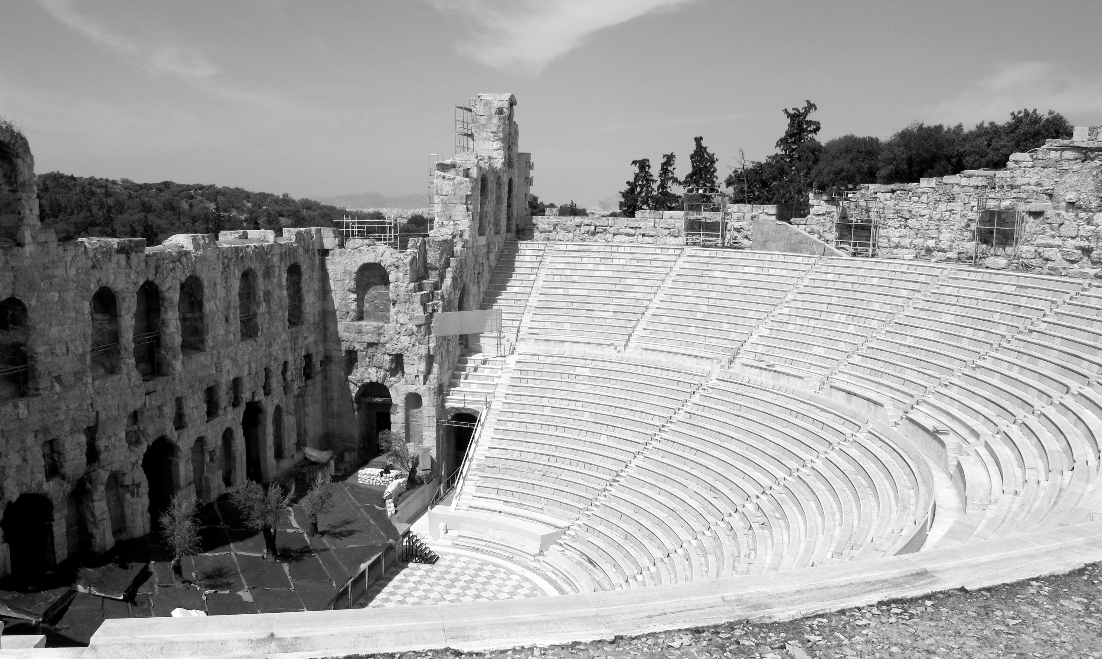 The Odeon of Herodes Atticus amphitheater, the Acropolis, Athens, Greece