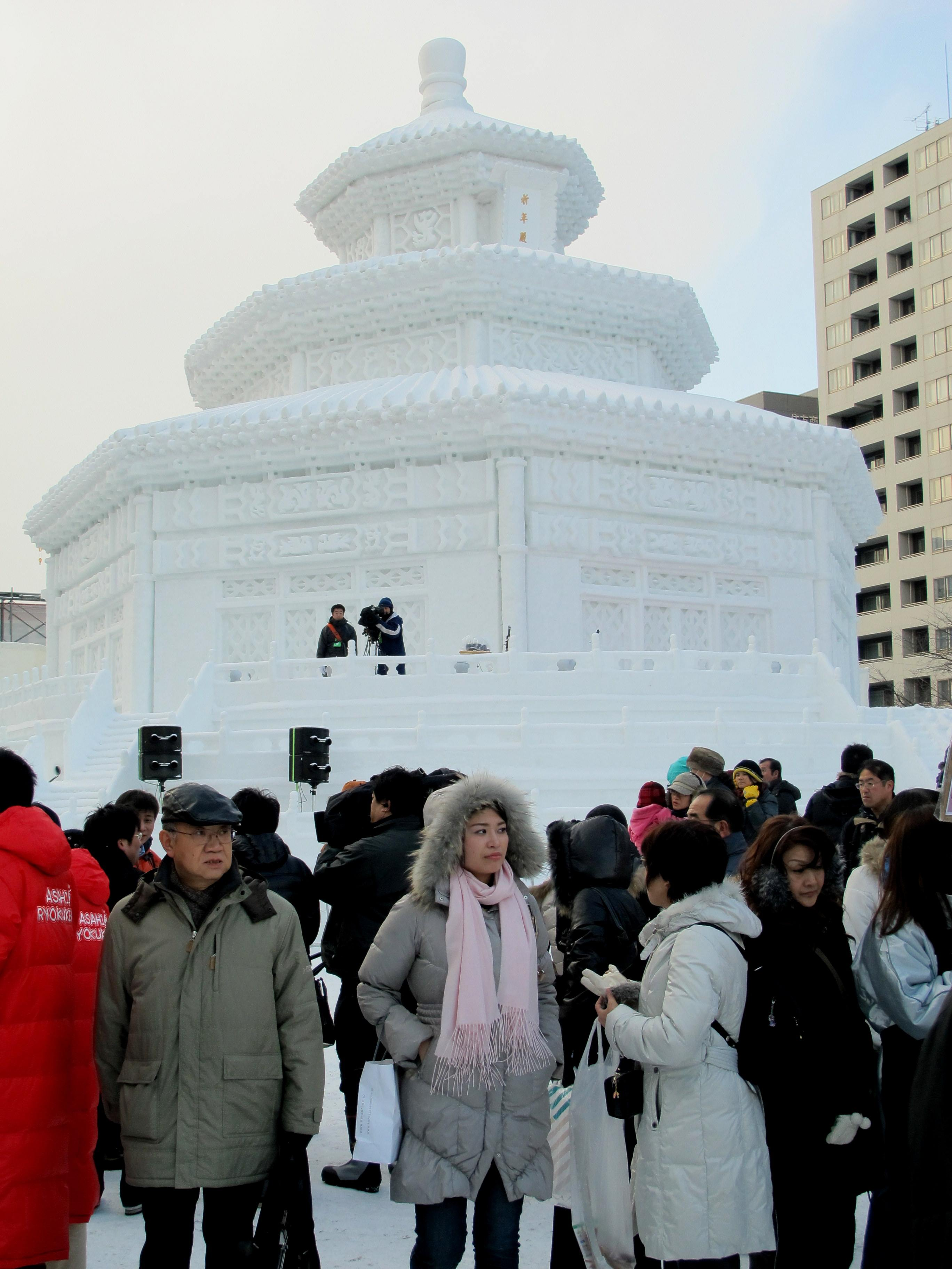 Replica of Beijing Square, Sapporo Yuki Matsuri, Odori Site, Hokkaido, Japan.
