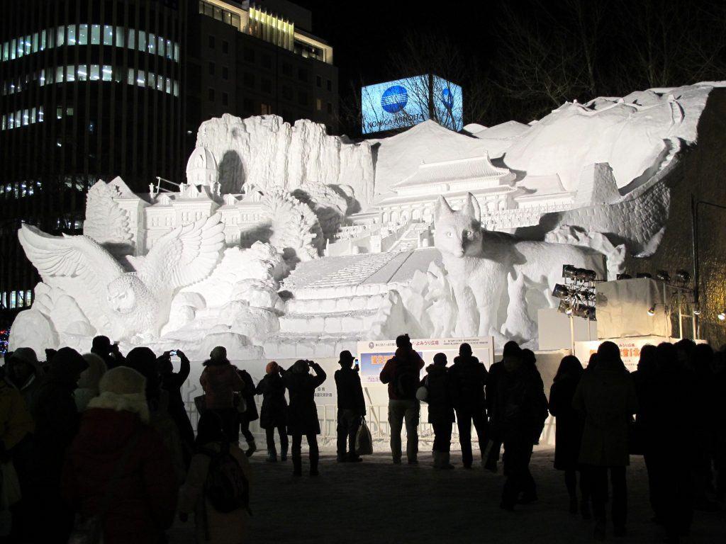 Sapporo Yuki Matsuri by Night, Hokkaido, Japan.