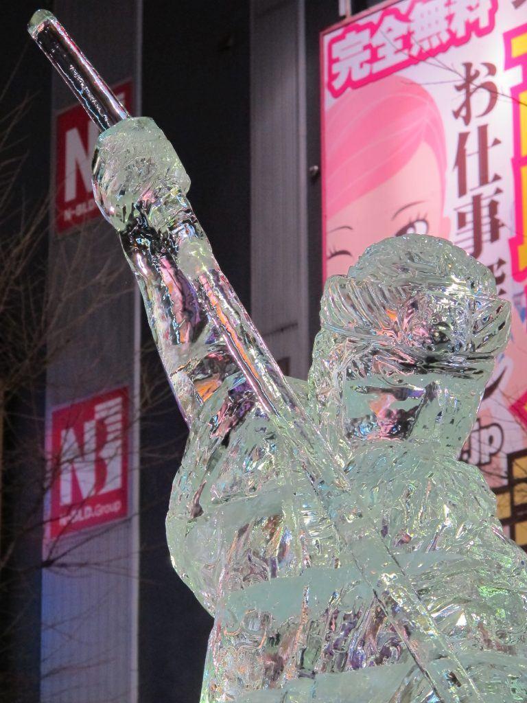 Sapporo Yuki Matsuri Ice Sculpture, Hokkaido, Japan.