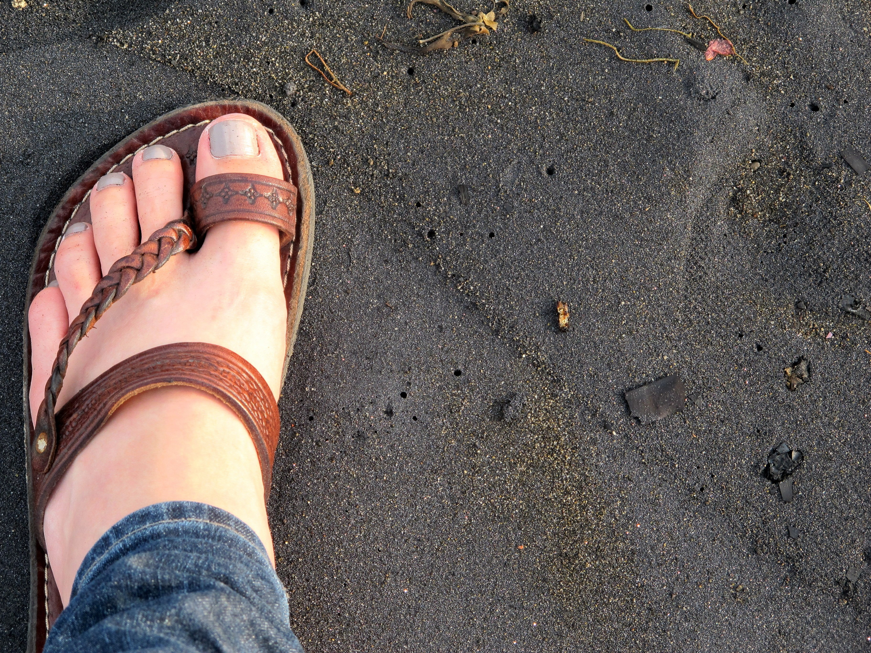 Camel leather sandals from Morocco, Africa