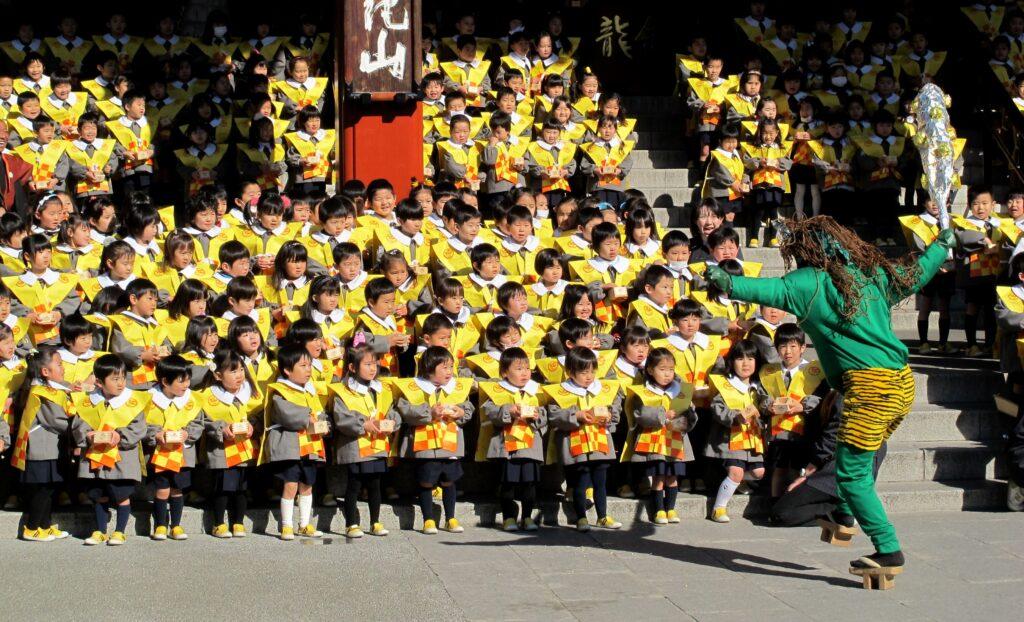 Setsubun celebrations, Sensoji Temple, Tokyo, Japan
