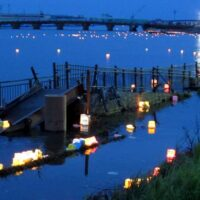 lanterns, water, Japan, Ishinomaki, ceremony, earthquake, tsunami, Kawabiraki Festival, 2011, 3.11, March 11, river