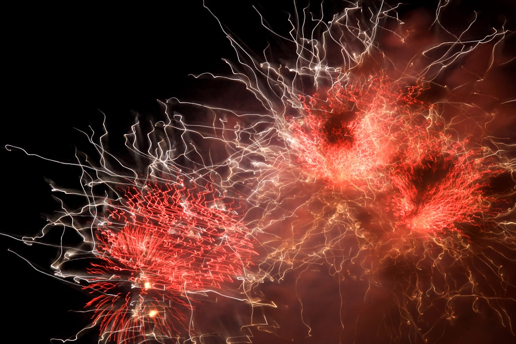 Final Bay Parade Fireworks, Nebuta Matsuri, Aomori, Japan
