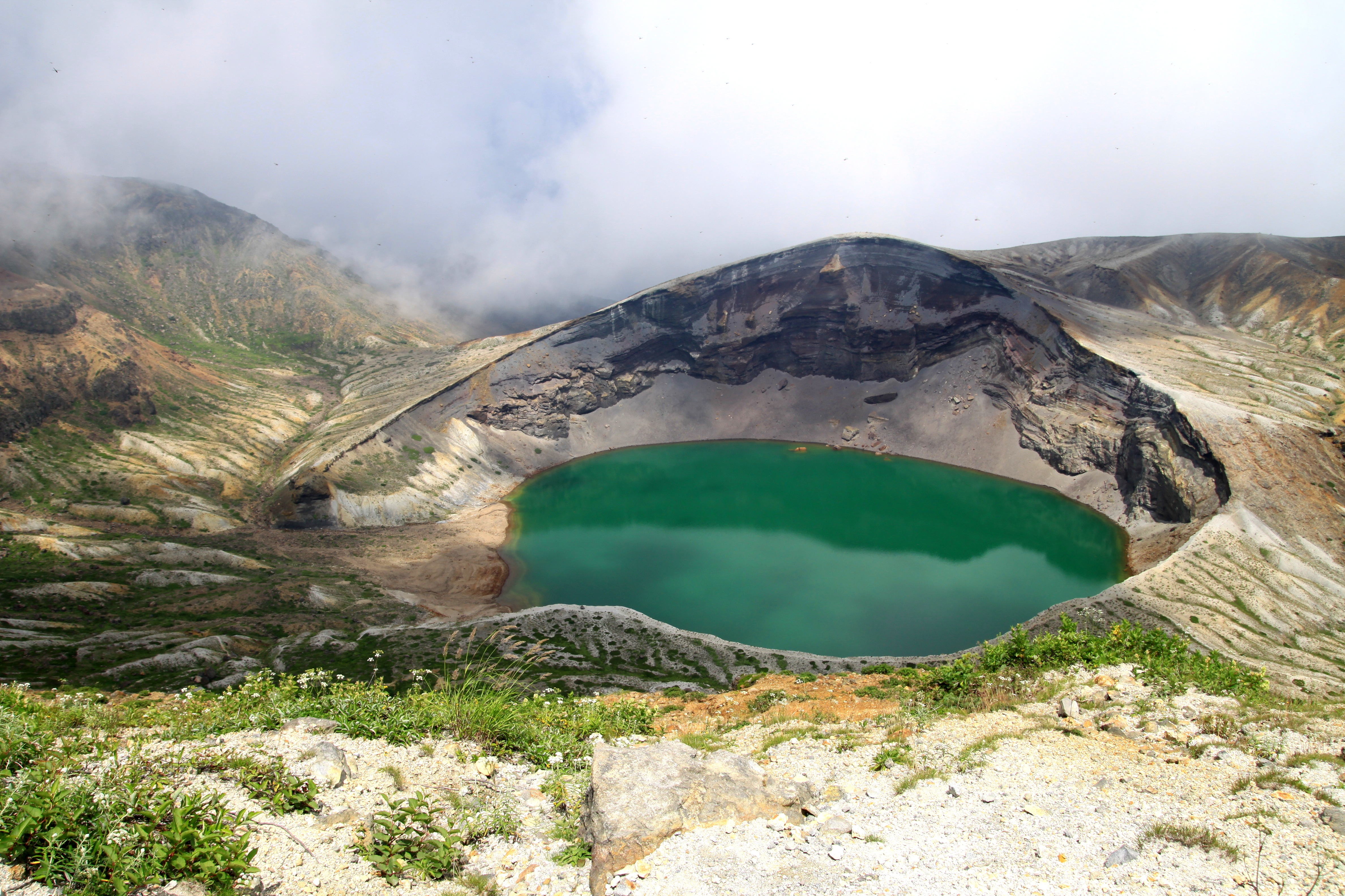 Okama Crater Lake, Yamagata, Japan