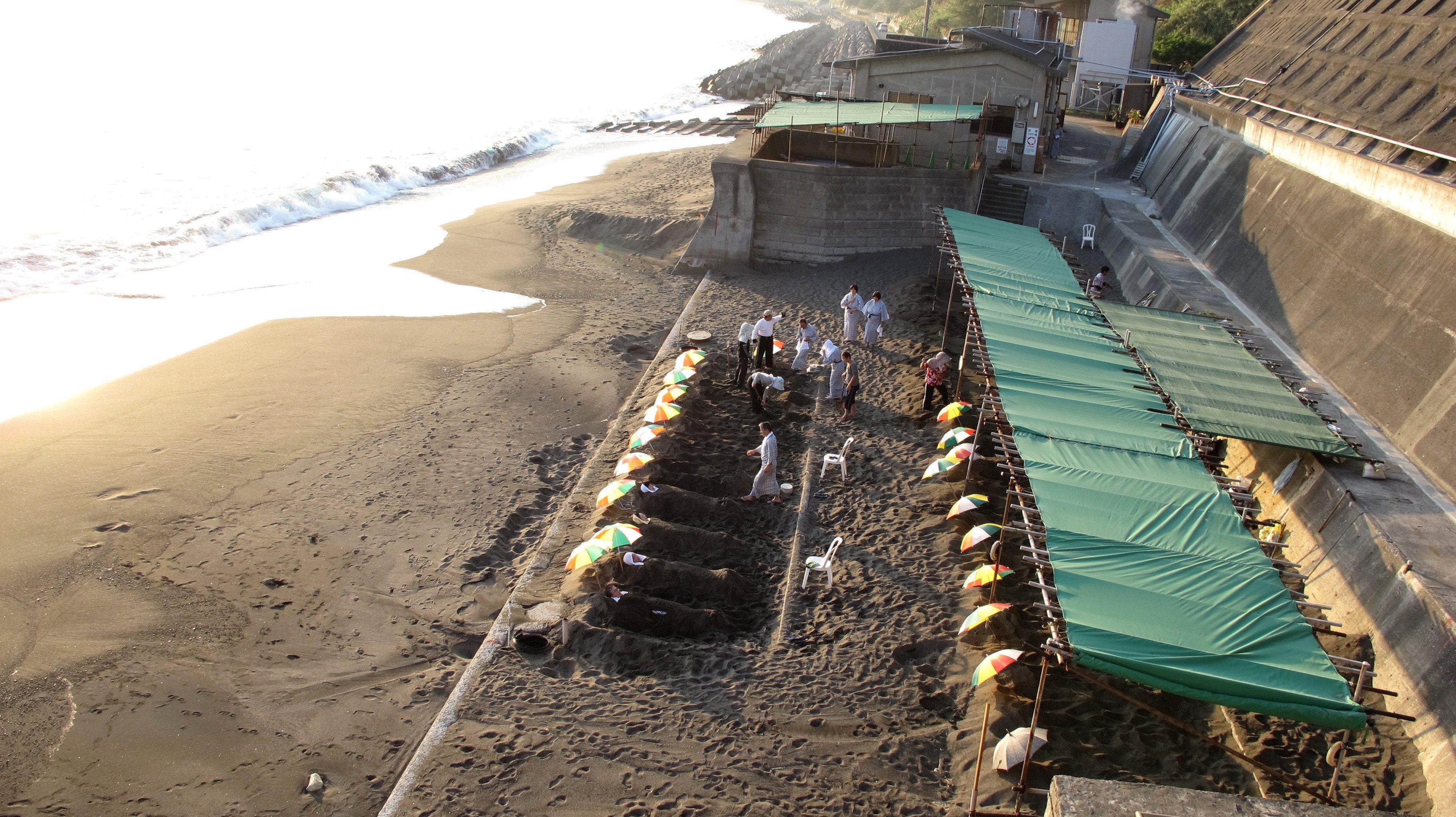 Ibusuki Sand Baths, Kyushu, Japan
