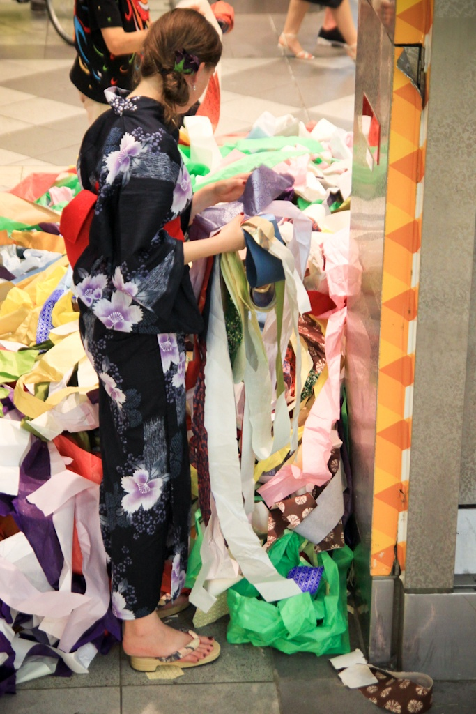 The festival's over - searching for the best paper finds, Tanabata Festival, Sendai, Japan
