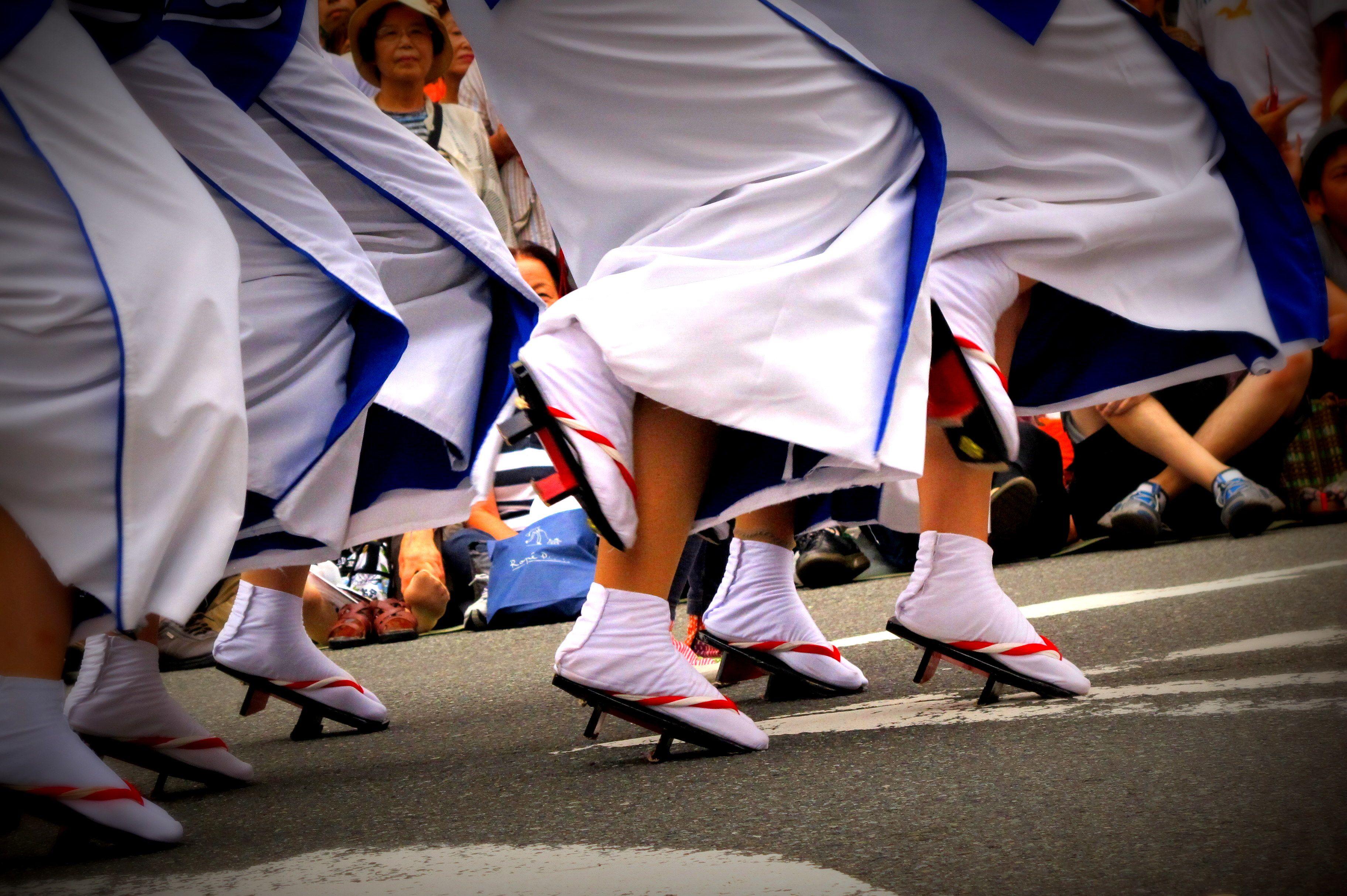Dance steps, Koenji Awa Odori Festival, Tokyo, Japan