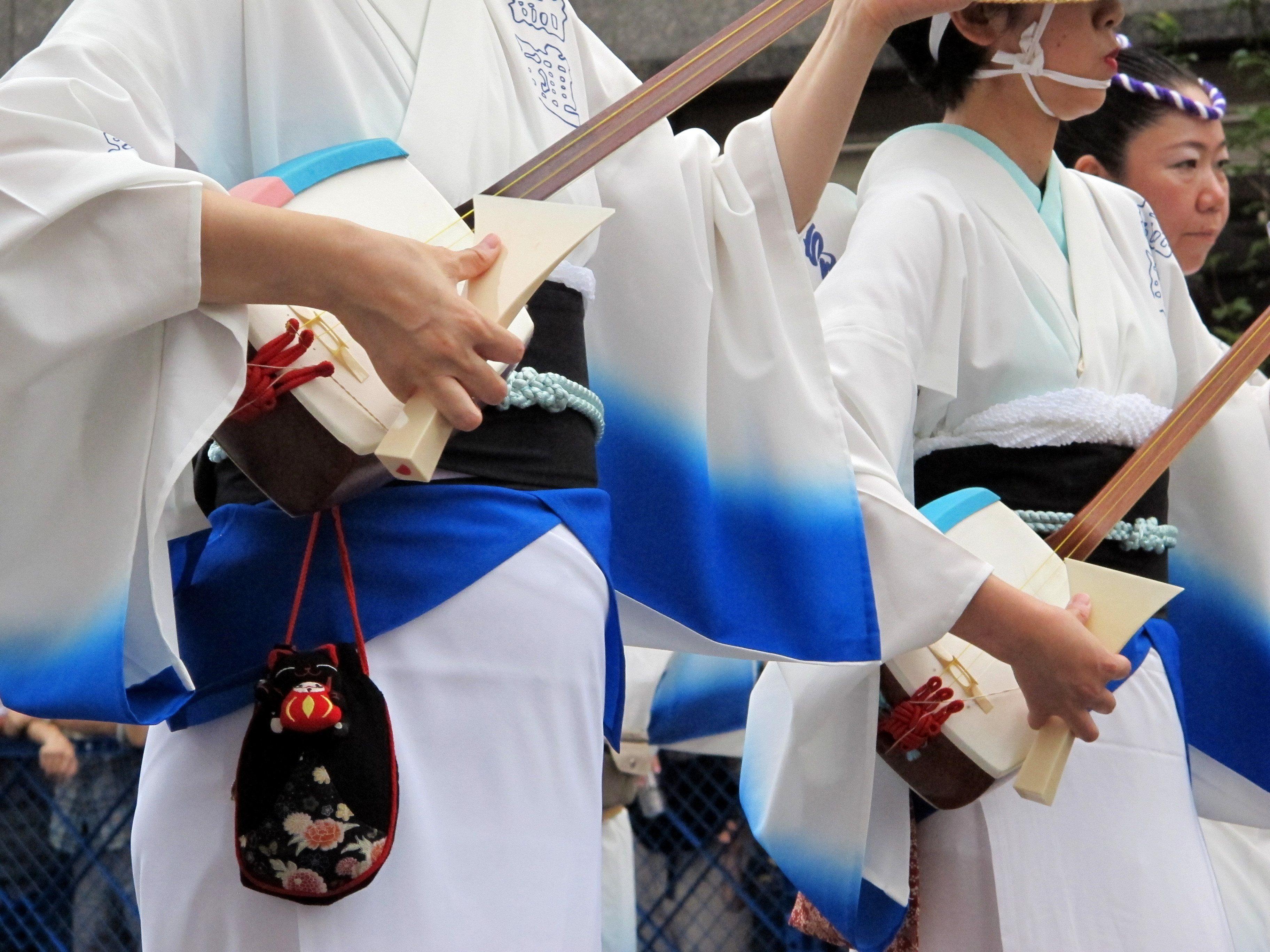 Musical instruments, Koenji Awa Odori Festival, Tokyo, Japan