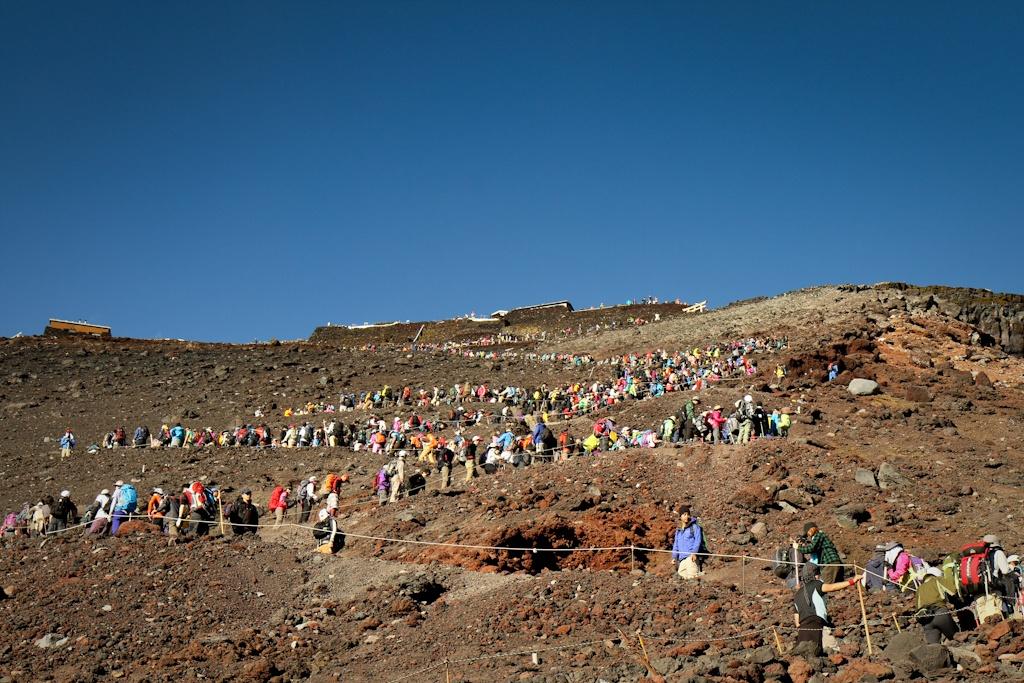 Climbing Mount Fuji, Japan