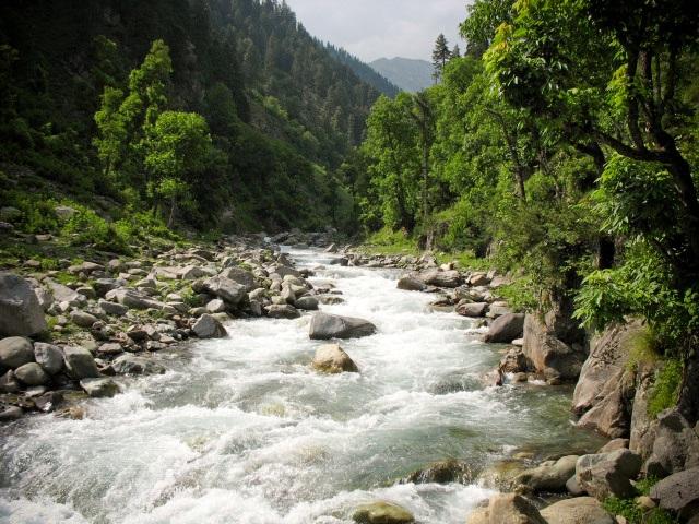 The River, Himalayas, Kashmir, India