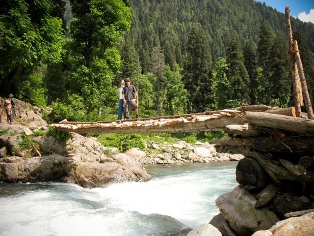 The Bridge, Himalayas, Kashmir, India