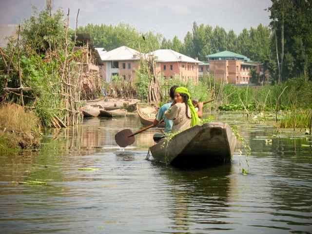 The water trek, Srinagar, Kashmir, India
