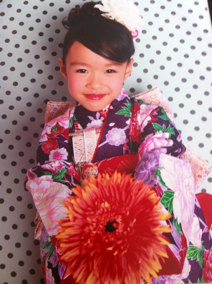 My pretty little friend Yuka celebrating Shichi-go-san as a seven-year-old this year. Congratulations!