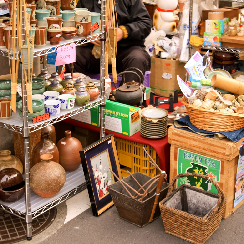 Setagaya Boroichi, stalls, flea market, Tokyo