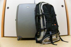 suitcase, backpack, luggage, travel