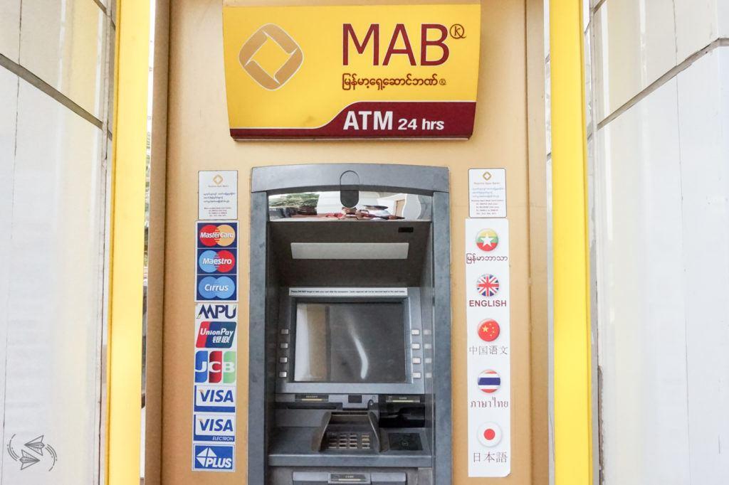 ATMs myanmar travel