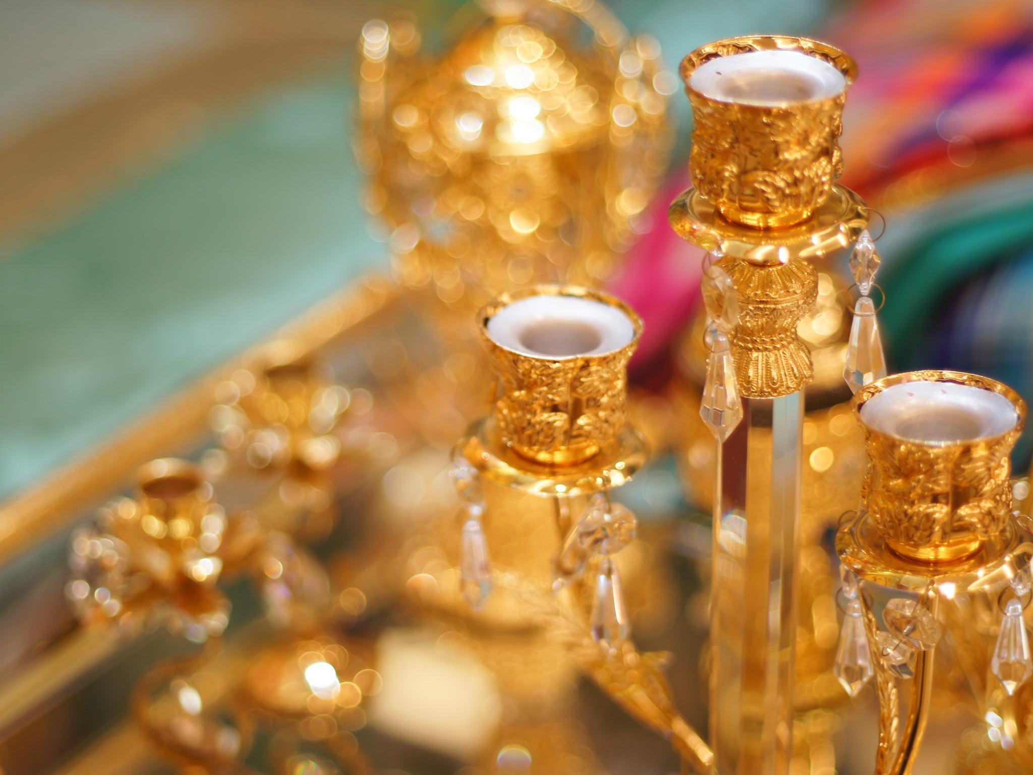 Ornate table detail.