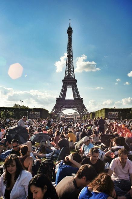 Bastille Day, July 14th, Champ de Mars, Paris, France