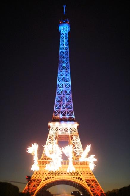 Bastille Day, July 14th Fireworks, Eiffel Tower, Champ de Mars, Paris, France