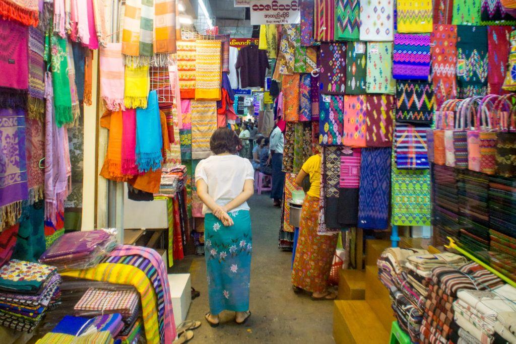 Bogyoke Aung San Market Yangon Myanmar