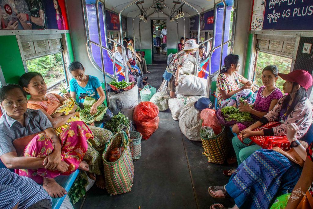City Circular Train Yangon Myanmar