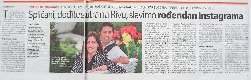 Croatian News Article