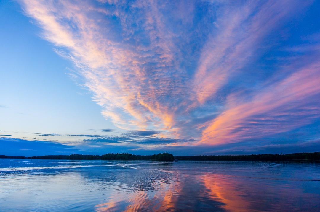 Summer Twilight Finnish Lakeland, Finland