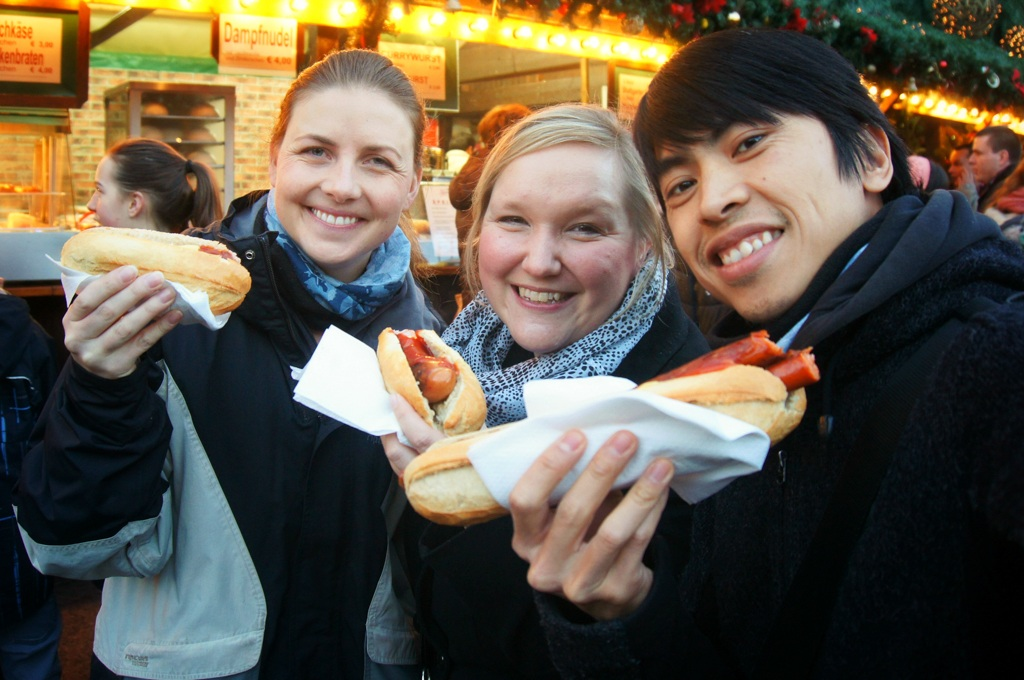 At the Christmas markets with Katha - Stuttgart, Germany