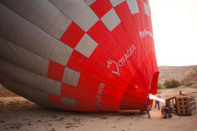 Hot air balloon ride, Cappadocia