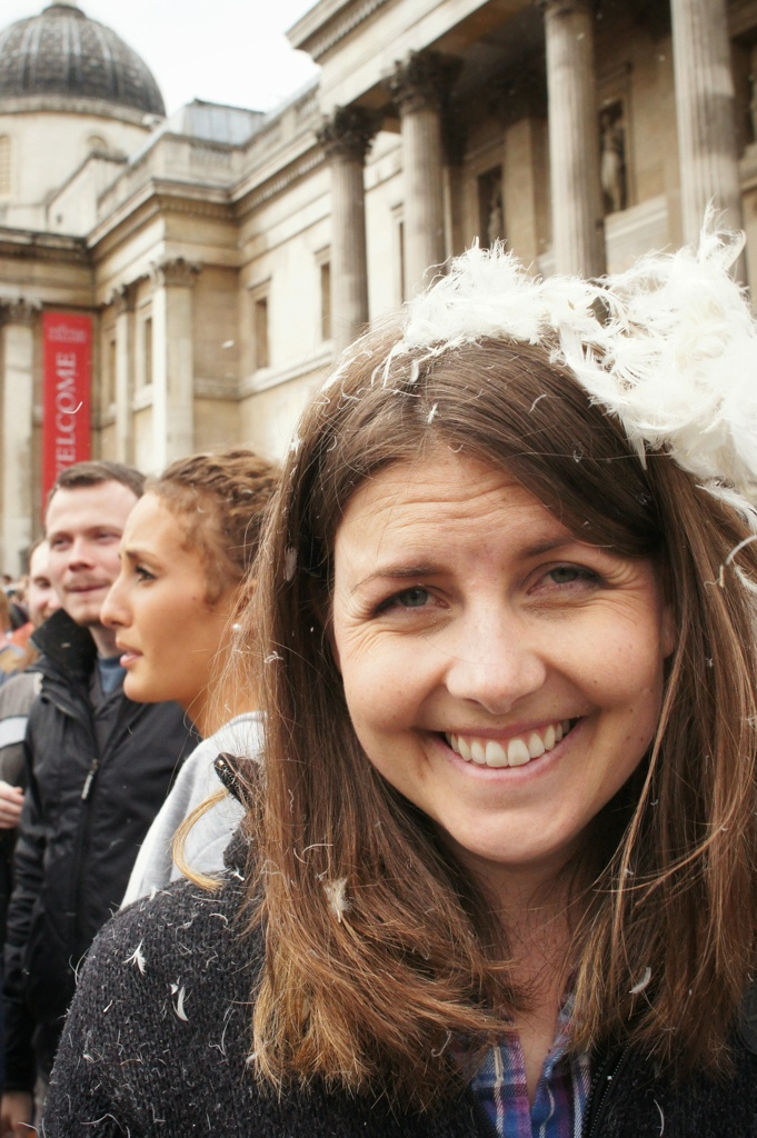 International Pillow Fight Day 2014, Trafalgar Square, London