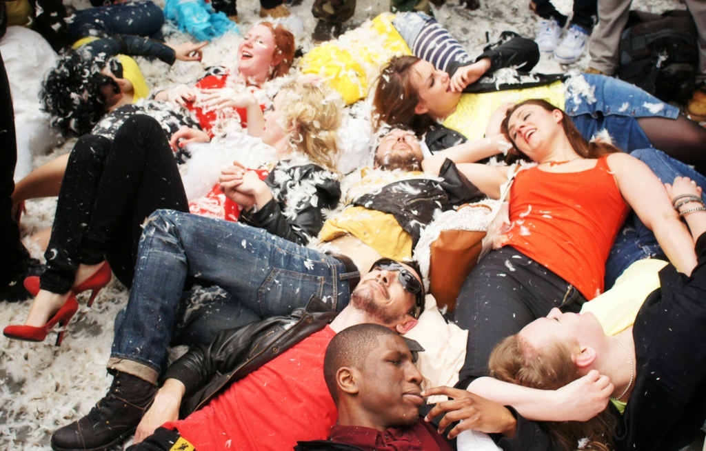 International Pillow Fight Day, Trafalgar Square