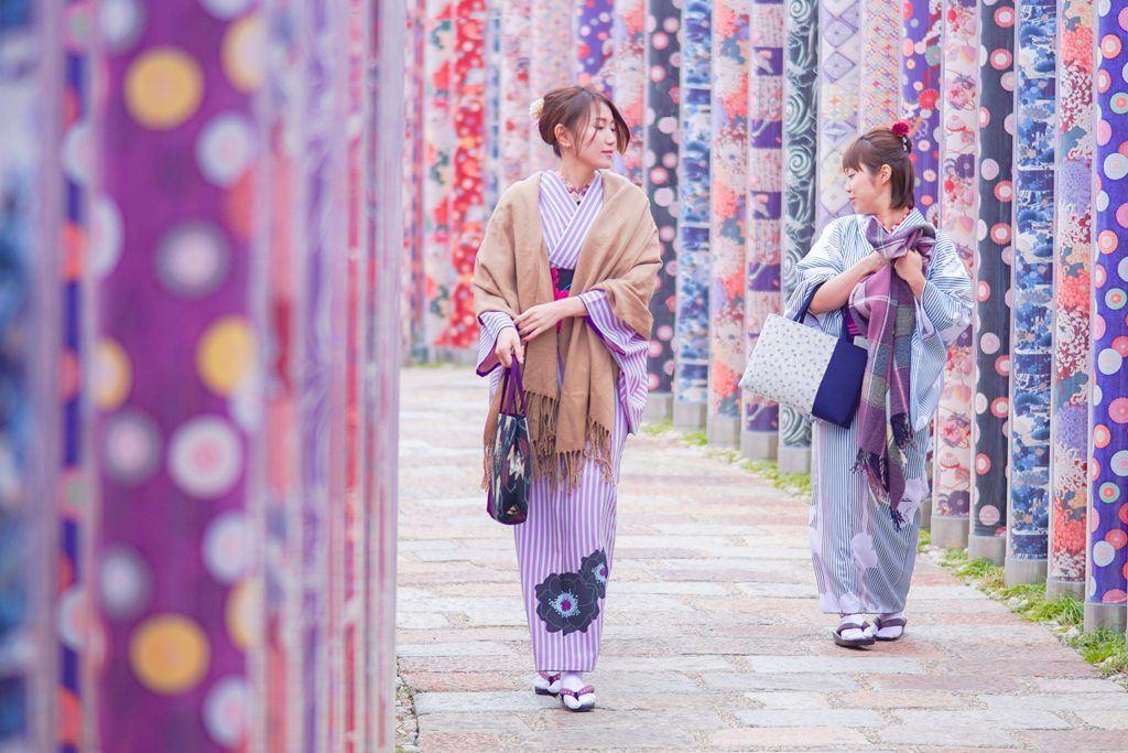 Kimono Forest, Randen Arashiyama Station, Kyoto, Japan