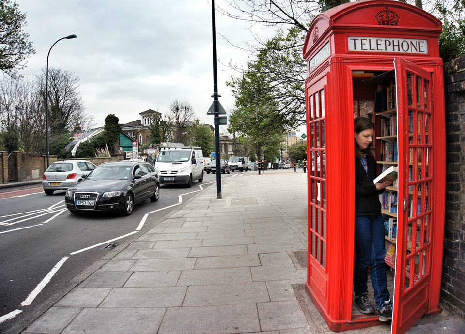 New Life to an Old Phone Booth: London's Smallest Library