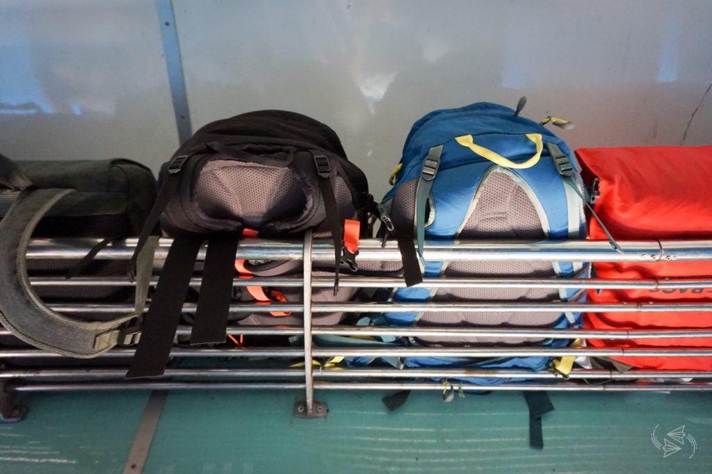 Luggage racks Train Yangon to Thazi Myanmar