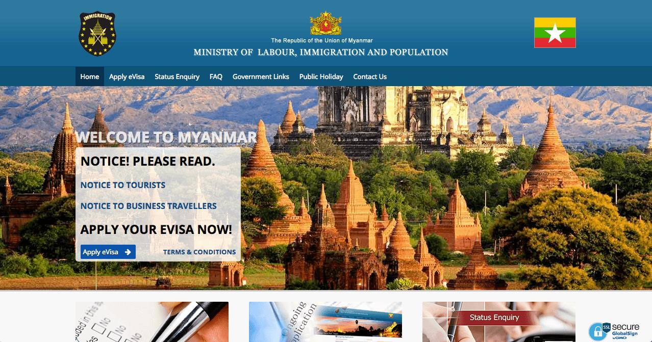 Myanmar tourist visa online Evisa