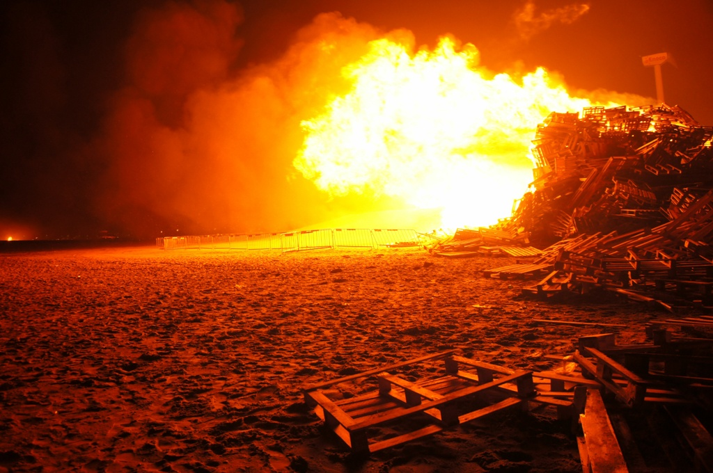 Duindorp New Year's Eve Bonfire, The Hague, Netherlands
