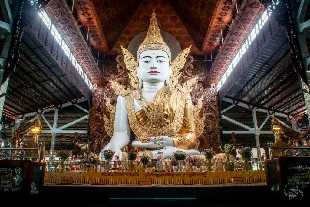 Ngahtatgyi Temple Seated Buddha Yangon Myanmar