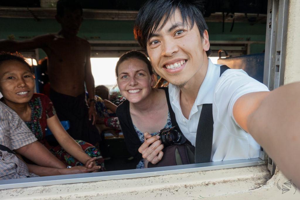 Ordinary class train Yangon to Thazi Myanmar