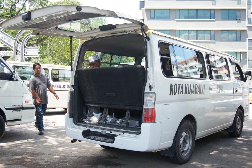 Bus to Kinabalu National Park, Padang Merdeka Bus Station, Kota Kinabalu