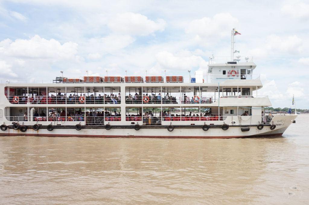 Pansodan Ferry to Dalla Yangon Myanmar