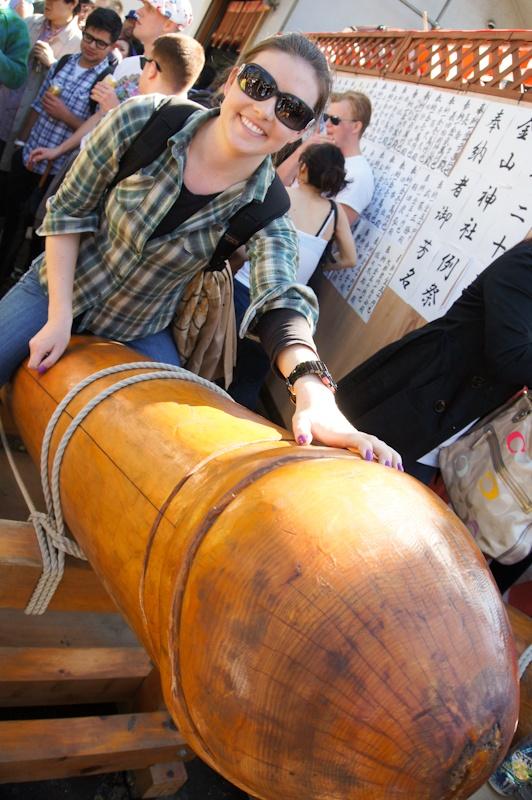 Penis ride at Kanamara Matsuri, Kanagawa, Japan
