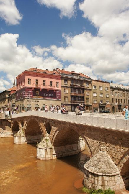 Street corner, Archduke Franz Ferdinand assassination, Sarajevo