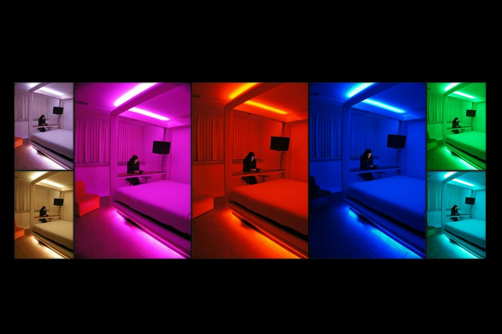 Qbic Hotel Amsterdam - Coloured Mood Lighting