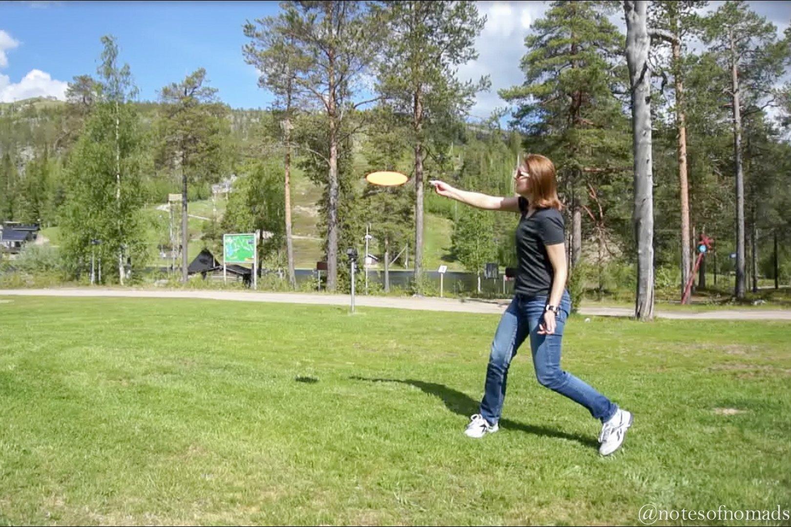 Frisbee golf, Salla, Finland