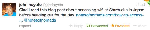 Notes of Nomads Reader Testimonial - Twitter