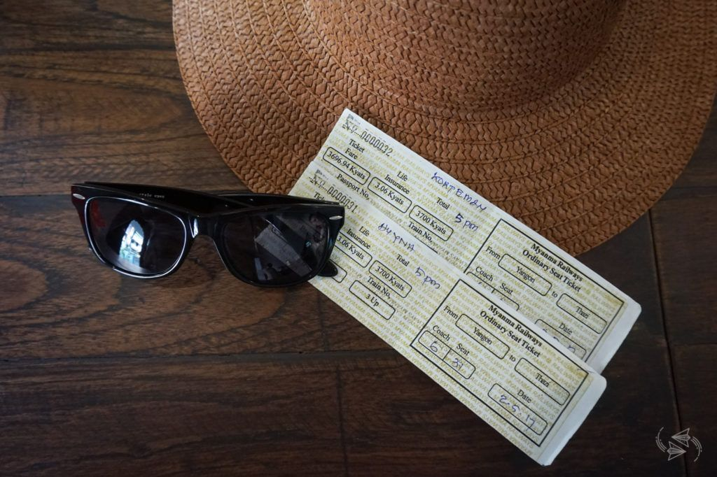 Train tickets from Yangon to Thazi Myanmar