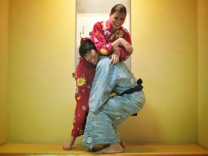 At a Japanese ryokan in Matsumoto